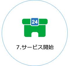 7.サービス開始